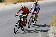 Vincenzo Nibali (ITA - Bahrain - Merida), Matteo Trentin (ITA - Mitchelton - Scott) during the UCI World Tour, Tour of Spain (Vuelta) 2018, Stage 5, Granada - Roquetas de Mar 188,7 km in Spain, on August 29th, 2018 - Photo Luis Angel Gomez / BettiniPhoto / ProSportsImages / DPPI