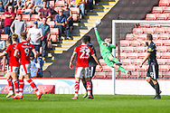 Adam Davies of Barnsley (1) makes a save during the EFL Sky Bet League 1 match between Barnsley and Shrewsbury Town at Oakwell, Barnsley, England on 19 April 2019.