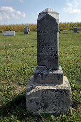 23 September 2017:  Henry -  West Union Cemetery is located on the north side of Illinois Rt 9 between Danvers and Mackinaw.  It is located within McLean County