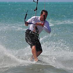 Sportsman parasurfing at Coco Plum Beach, Marathon, Florida Keys