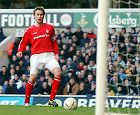 Fotball<br /> FA-cup 2005<br /> Tottenham v Nottingham Forest<br /> 20. februar 2004<br /> Foto: Digitalsport<br /> NORWAY ONLY<br /> Forrest's Gareth Taylor scores the equaliser