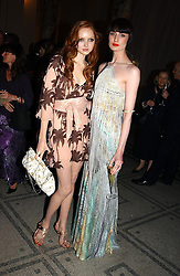 Left to right, models LILY COLE and ERIN O'CONNOR at the 2004 British Fashion Awards held at Thhe V&A museum, London on 2nd November 2004.<br />