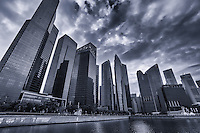 Marina Bay Financial Centre (left foreground), Downtown