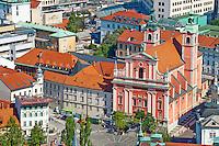 Slovénie, Ljubljana, capitale de la Slovénie, eglise franciscaine de l'Annonciation // Slovenia, Ljubljana, Franciscan church