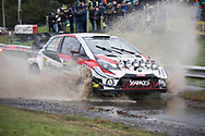 Kris Meeke(GBR)and Co/Driver Sebastian Marshall(GBR)Toyota Yaris WRC during the Wales Rally GB at Oulton Park, Budworth, Cheshire, United Kingdom on 3 October 2019.