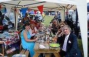 Henley, GREAT BRITAIN,  2012 Henley Royal Regatta. Henley spectators, enjoy the picnic. Friday  14:39:30  29/06/2012 [Mandatory Credit, Intersport-images] ..Rowing Courses, Henley Reach, Henley, ENGLAND . HRR