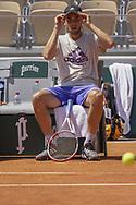 Dominic Thiem (AUT) during practice ahead of the Roland-Garros 2021, Grand Slam tennis tournament, Qualifying, on May 29, 2021 at Roland-Garros stadium in Paris, France - Photo Nicol Knightman / ProSportsImages / DPPI