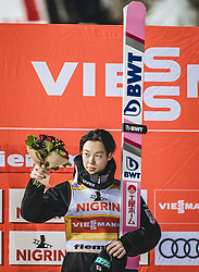 12.01.2019, Stadio del Salto, Predazzo, ITA, FIS Weltcup Skisprung, Val di Fiemme, Herren, Siegerehrung, im Bild Sieger Ryoyu Kobayashi (JPN) // Winner Ryoyu Kobayashi of Japan during the winner Ceremony for the Four Hills Tournament of FIS Ski Jumping World Cup at the Stadio del Salto in Predazzo, Itali on 2019/01/12. EXPA Pictures © 2019, PhotoCredit: EXPA/ JFK