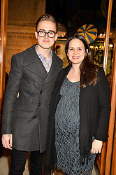 TOM FLETCHER and his wife GIOVANNA at the opening night of Amaluna by Cirque Du Soleil at The Royal Albert Hall, London on 19th January 2016.