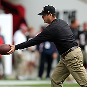 Head coach Jim Harbaugh is seen during an NFL football game between the San Francisco 49ers  and the Tampa Bay Buccaneers on Sunday, December 15, 2013 at Raymond James Stadium in Tampa, Florida.. (Photo/Alex Menendez)