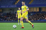 AFC Wimbledon midfielder Anthony Hartigan (8) dribbling during the EFL Trophy match between U21 Chelsea and AFC Wimbledon at Stamford Bridge, London, England on 4 December 2018.