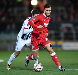 Marlon Pack of Bristol City - Mandatory by-line: Paul Knight/JMP - Mobile: 07966 386802 - 19/01/2016 -  FOOTBALL - Ashton Gate Stadium - Bristol, England -  Bristol City v West Bromwich Albion - FA Cup third round