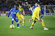 Peterborough United midfielder Siriki Dembele (10) ton the ball during the EFL Sky Bet League 1 match between Peterborough United and Oxford United at London Road, Peterborough, England on 8 December 2018.