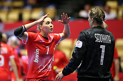 HERNING, DENMARK - DECEMBER 3, 2020: Daria Dmitrieva during the EHF Euro 2020 Group C match between Russia and Spain in Jyske Bank Boxen, Herning, Denmark on December 3 2020. Photo Credit: Allan Jensen/EVENTMEDIA.