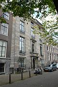 """Amsterdam - Netherlands. Amstel 216. """" House with the booldsigns"""" (1671) Amstel 216 have been devised in 1671 and in 1671/72 have been built by construction master Adriaan Dortsman for the well-to-do catholic merchant Gijsbert more stupidly (1628-1675). The merchant became however in reputation was outstripped by the later occupant Coenraad of Beuningen (1622-1693). The said that Van Beuningen wrote with its own blood on the sand toes gable would be name, which of its woman and some three-masted ships, Jew characters and cabalistic signs have written. The signs are see also now still (with only effort) and can be never more erased. The house has been thus confessed under the name """" House with the bloedsigns"""". /////<br /> Amsterdam - Netherlands . Amstel 216 . """"Huis met de bloedvlekken"""" (1671) Amstel 216 is in 1671 ontworpen en in 1671/72 gebouwd door bouwmeester Adriaan Dortsman voor de welgestelde katholieke koopman Gijsbert Dommer (1628-1675). De koopman werd echter in bekendheid overvleugeld werd door de latere bewoner Coenraad van Beuningen (1622-1693). Volgens de overlevering zou Van Beuningen met zijn eigen bloed op de zandstenen gevel zijn naam, die van zijn vrouw en enkele driemasters, Hebreeuwse letters en kabbalistische tekens hebben geschreven. De tekens zijn ook nu nog (met enige moeite) te zien en kunnen nimmer meer uitgewist worden. Het huis is dan ook bekend geworden onder de naam """"Huis met de bloedvlekken""""."""