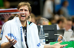 Dirk Nowitzki of Germany during basketball game between National basketball teams of Lithuania and Germany at FIBA Europe Eurobasket Lithuania 2011, on September 11, 2011, in Siemens Arena,  Vilnius, Lithuania. Lithuania defeaed Germany 84-75. (Photo by Vid Ponikvar / Sportida)