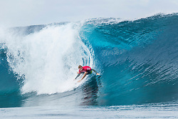 Aug 12, 2017 - Teahupo'o, French Polynesia, Tahiti - Sebastian Zietz of Hawaii, current No.15 on the Jeep Leaderboard advanced to Round Three of the Billabong Pro Tahiti after Miguel Pupo of Brazil in Heat 7 of Round Two. (Credit Image: © Kelly Cestari/World Surf League via ZUMA Wire)