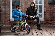BALTIMORE, MD -- 12/22/14 -- Benjamin Jancewicz, 31, a designer from Baltimore, with his son, Arion Jancewicz, 6, talks about the complexity of being a biracial family.…by André Chung #_AC23803