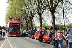 Bristol City leave Ashton Gate for a celebration tour around Bristol - Photo mandatory by-line: Dougie Allward/JMP - Mobile: 07966 386802 - 04/05/2015 - SPORT - Football - Bristol -  - Bristol City Celebration Tour