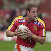 © Intersport Images .Photo Peter Spurrier.12/05/2002.Sport - Rugby League.London Broncos vs Widnes Vikings.Scott Cram....
