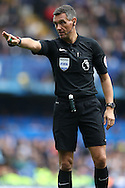 Referee Andre Marriner in action. Premier league match, Chelsea v Leicester city at Stamford Bridge in London on Saturday 15th October 2016.<br /> pic by John Patrick Fletcher, Andrew Orchard sports photography.