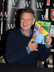 © Licensed to London News Pictures. 26/10/2012. London, U.K..Michael Palin, Founding member of Monty Python and TV explorer signs copies of his new book, Brazil, at Waterstones book store on Gower Street, London (today 26/10/12). The book accompanies his latest BBC1 series..Photo credit : Rich Bowen/LNP