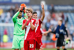 Patrick Bamford of Middlesbrough applauds the away fans after Middlesbrough win 1-2 - Photo mandatory by-line: Rogan Thomson/JMP - 07966 386802 - 13/09/2014 - SPORT - FOOTBALL - Huddersfield, England - The John Smith's Stadium - Huddersfield town v Middlesbrough - Sky Bet Championship.