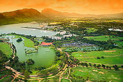 Kaua`i Marriott Hotel and Mokihana Golf Course, Lihu`e, Kauai, Hawaii, Pacific Ocean