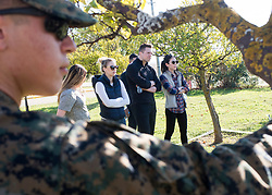 "December 21, 2017 - Sevilla, Spain - Comedian Iliza Shlesinger and WWE Superstar ""The Miz"" meet with Marines assigned to Special Purpose Marine Air-Ground Task Force Crisis Response Africa as part of a troop engagement during the Chairmans USO Holiday Tour at Moon Air Base Dec. 21, 2017. Marine Corps Gen. Joe Dunford, chairman of the Joint Chiefs of Staff, and Army Command Sgt. Maj. John W. Troxell, senior enlisted advisor to the chairman, along with USO entertainers, visited service members who are deployed during the holidays at various locations across Europe and the Middle East. .(Credit Image:"