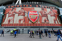 A general view of the outside of the Emirates Stadium, home of Arsenal<br /> <br /> Photographer /Craig MercerCameraSport<br /> <br /> Football - Barclays Premiership - Arsenal v Aston Villa - Sunday 1st February 2015 - The Emirates Stadium - London<br /> <br /> © CameraSport - 43 Linden Ave. Countesthorpe. Leicester. England. LE8 5PG - Tel: +44 (0) 116 277 4147 - admin@camerasport.com - www.camerasport.com