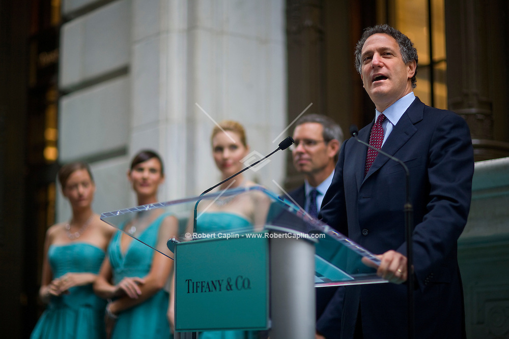 New York City deputy Mayor Daniel L. Doctoroff outside the new Wall Street location Oct. 10, 2007 the day Tiffany & Co. went public and for the ribbon cutting of their new Wall Street store in New York.
