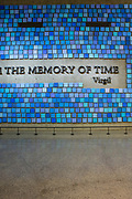 Details of an installation by Spencer Finch, entitled Trying to remember the color of the sky on that September morning, in the 9/11  Museum.