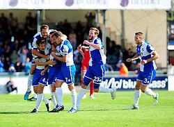 Bristol Rovers celebrate Ollie Clarkes goal - Photo mandatory by-line: Neil Brookman - Mobile: 07966 386802 23/08/2014 - SPORT - FOOTBALL - Bristol - Memorial Stadium - Bristol Rovers v AFC Telford - Vanarama Football Conference