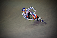 #12 (READE Shanaze) GBR leads the whole way during the UCI BMX Supercross World Cup in Manchester, UK