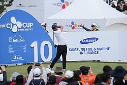 Oct 21, 2018 - Jeju, South Korea - BROOKS KOEPKA of USA action on the 10th tee during the PGA Golf CJ CUP Nine Bridges at Nine Bridges Golf Club. (Credit Image: © JNA via ZUMA Wire)