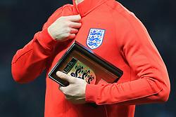England captain Gary Cahill carries the England FA team plaque - Mandatory by-line: Matt McNulty/JMP - 26/03/2016 - FOOTBALL - Olympiastadion - Berlin, Germany - Germany v England - International Friendly