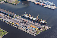 Canton Pier 11 and Ocean Hope Ship in Port of Baltimore Patapsco River by Jeffrey Sauers of Commercial Photographics, Architectural Photo Artistry in Washington DC, Virginia to Florida and PA to New England
