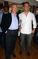 Left to right, LORD ARCHER and JAMES MAJOR son of former Prime Minister John Major at a party to celebrate the publication on 'Confessions of a Dedicated Englishman' by David English held at the Lord's Tavern, St.John's Wood Road, London on 8th May 2006.<br /><br />NON EXCLUSIVE - WORLD RIGHTS