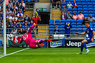 Cardiff City forward Mark Harris  (29) comes close during the EFL Sky Bet Championship match between Cardiff City and Bournemouth at the Cardiff City Stadium, Cardiff, Wales on 18 September 2021.