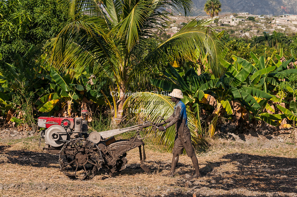 Haïti, région Artibonite, Côte-des-Arcadins, agriculteur sur Les Chemins de Montrouis aux environs de la même ville // Haiti; Artibonite region, Arcadins coast, country farmer on Montrouis nature trail