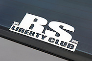 Subaru RS Liberty Club Badge.1991 Subaru RS Liberty Turbo - Charcoal.Shot on location at Docklands area, Melbourne, Victoria.3rd July 2005.(C) Joel Strickland Photographics.Use information: This image is intended for Editorial use only (e.g. news or commentary, print or electronic). Any commercial or promotional use requires additional clearance.