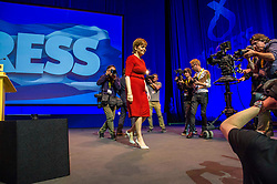 Pictured: First Minister Nicola Sturgeon<br /> The members of the SNP gathered in the Scottish Events Centre in Glasgow for their annual conference.<br /> Ger Harley | EEm 10 October 2017
