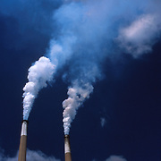 West Virginia Power Plant Smokestack .Photo by Roger S. Duncan.  ...
