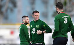 Republic of Ireland assistant manager Robbie Keane on the pitch prior to the UEFA Euro 2020 Qualifying, Group D match at the Victoria Stadium, Gibraltar.