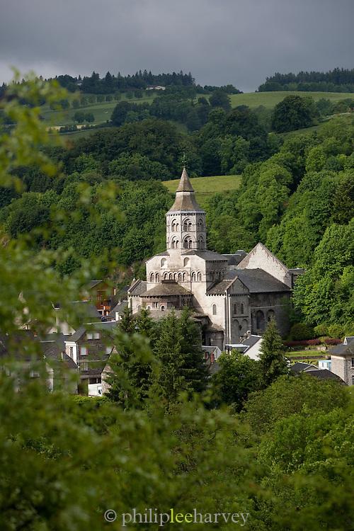 La basilique Notre-Dame at Orcival, Puy-de-Dôme department in Auvergne, France