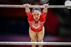 October 28, 2018 - Doha, Quatar - Tingting Liu of China   during  Uneven Bars qualification at the Aspire Dome in Doha, Qatar, Artistic FIG Gymnastics World Championships on 28 of October 2018. (Credit Image: © Ulrik Pedersen/NurPhoto via ZUMA Press)