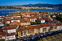 Espagne, Pays Basque, Guipuscoa, Fontarrabie, remparts de la vieille ville // Spain, Basque Country, Guipuscoa, Hondarribia, ramparts of the old town