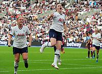 Football - 2019 / 2020 FA Women's Super League (WSL) - West Ham United vs. Tottenham Hotspur Women<br /> <br /> Lucy Quinn of Tottenham celebrates scoring goal no 2, at The London Stadium.<br /> <br /> COLORSPORT/ANDREW COWIE
