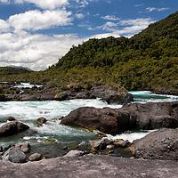 Rio Negro crossing the Vicente Pérez Rosales National Park.