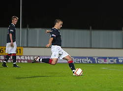 Falkirk's Mark Miller scoring their third goal..Falkirk 3 v 2 Rangers..©Pic : Michael Schofield.